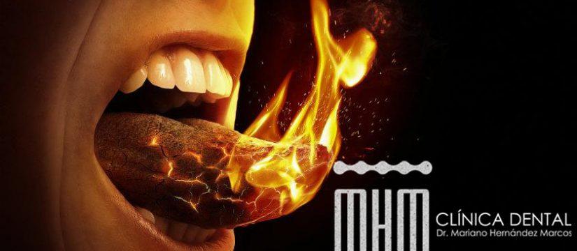 ardor en la boca, boca ardiente